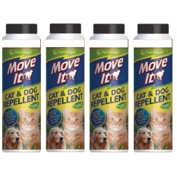 4 x PestShield Move It Cat & Dog Garden Repellent Non Toxic 100% Natural 240g
