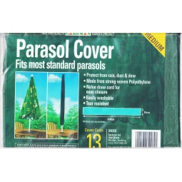 Green Medium Parasol Cover 115cm PET Washable & Tear resistant