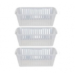 25cm Clear Plastic Handy Basket Storage Basket - Set Of 3