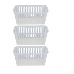 30cm Clear Plastic Handy Basket Storage Basket - Set Of 3
