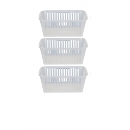 37cm Clear Plastic Handy Basket Storage Basket - Set Of 3