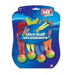 Pack Of 4 Dive Ball Streamer
