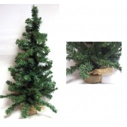 Mini Table Top Centerpiece Artificial Christmas Tree With Hessian Base - 45CM
