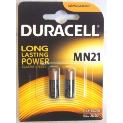 Duracell Pack Of 2 MN21 Alkaline Security Alarm Battery LR50 A23 V23GA Lasting