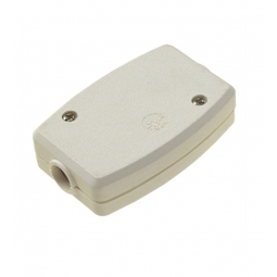 Dencon 13A 3 Terminal Fixed Connector White