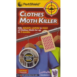 Pestshield Lavender Scented Hanging Wardrobe Clothes Moth Killer Cassette