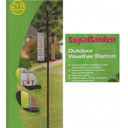 SupaGarden Outdoor Weather Station For Temperature Rainfall & Wind Direction