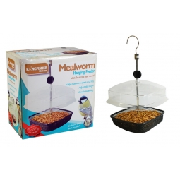 Kingfisher Outdoor Garden Hanging Mealworm Wild Bird Feeder Station Adjustable