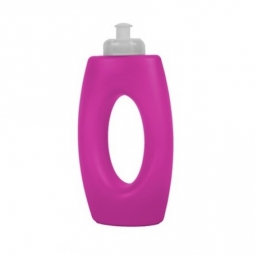 Pink Coloured Plastic Sports Cap Drinking Bottle With Handle Water Juice 400ml