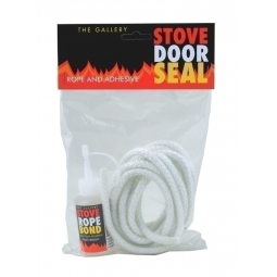 Stove Door Seal / Rope Replacement Kit 8mm, wood burner