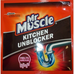 Mr Muscle Kitchen Unblocker Melts Grease 50g Sachet
