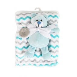 Blue Blanket With Teddy