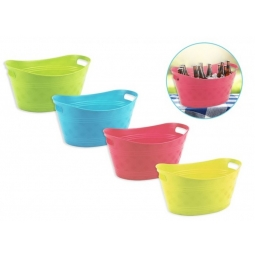 Large Plastic Flexi Tub Ice Bucket Drinks Beer Wine Cooler Outdoor Dining YELLOW