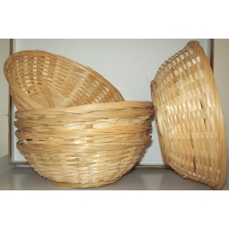 Natural Small Woven Bamboo Round Wicker Basket Storage Bread Chip Snack Bowl