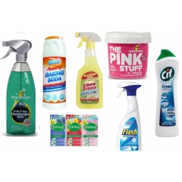 Mrs Hinch Cleaning Bundle Household Cleaner Cif Pink Stuff Zoflora Elbow Grease