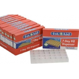 1st Aid 7 Day Pill Box Dispenser - Keep Track Of Your Daily Medication