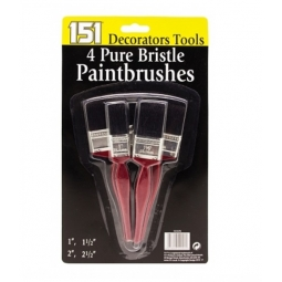 4 Pk Paint Brush Set Value Pure Bristle Decorating Brushes 1