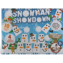 Snowman Showdown Pyramid Stacking Cup Snowball Challenge Christmas Game 5+