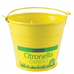 Chatsworth Citronella Bucket Candle Outdoor Dining Garden Pest Control 8.5cm