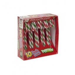 Pack Of 10 Peppermint Flavour Christmas Tree Striped Elf Candy Canes Sweets