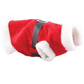 Dog's Santa Xmas Suit Coat - Ideal For Small Dogs Great For The Festive Season