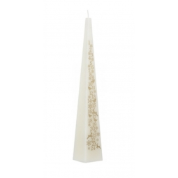 Cream Pyramid Advent Candle