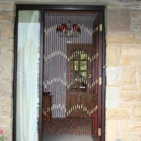 Beaded Bamboo Door Curtain