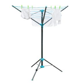 Free Standing Portable Rotary Washing Line Airer 16M Drying Space 142cm x 140cm