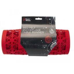 Red Snowflake Christmas Table Runner