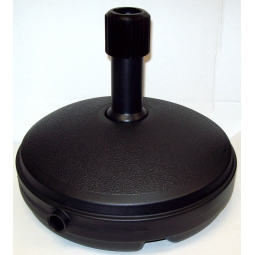 Ward Black Plastic Parasol Base 33cm Round Garden Parasol Holder 7L Capacity