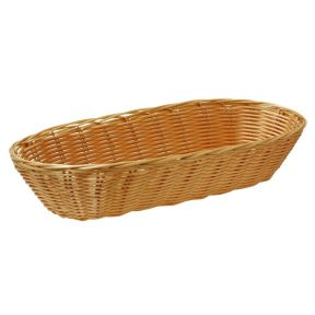 Poly Rattan Oval Storage Basket 38cm Dishwasher Safe Food / Home / Office