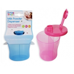 Portable Baby Food Milk Powder Dispenser Pot 3 Section Tub Blue