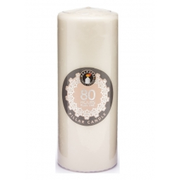 80H Ivory Pillar Candle