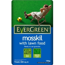 Evergreen mosskil with lawn food, ready to use granules 14kg