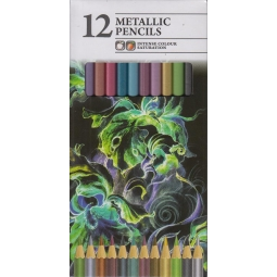 12 Metalic Colouring Pencils