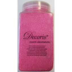 Decoris season decorations 500g tub of Pink decorative Sand - Art sand