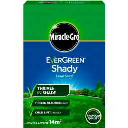 Miracle-Gro Shady Lawn Grass Seed Thrives In Shade Thicker Lawn Covers 14m2 420g