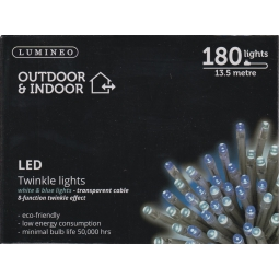 180 13.5M LED's White & Blue