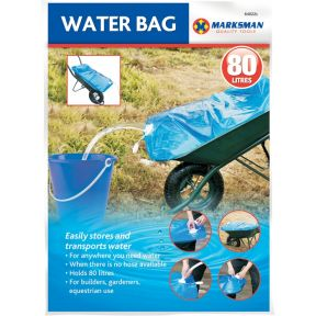 Marksman Large 80L Water Carrier Bag Builders Transporter Wheelbarrow Bag Store