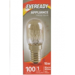 Eveready Replacement Appliance Fridge Lamp Bulb 15W Warm White SES E14 Screw