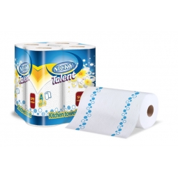 Nicky Talent Pack Of 4 Kitchen Towel Roll 2 Ply Kitchen Household Cloths