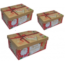 3 x Cute Christmas Eve Shoe Gift Pj Box Present Xmas Eve Delivery Santa Elf