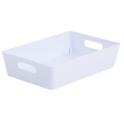 White Wham Plastic Rectangle Studio Handy Storage Basket 25.5cm x 17cm x 6cm 2L
