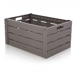 Grey Wood Effect Crate