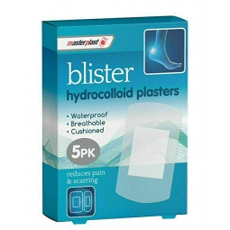 Masterplast Blister Plasters 5PK Hydrocolloid Waterproof Breathable Cushioned