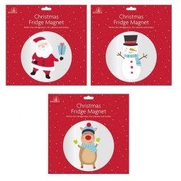 Set Of 3 Cute Christmas Character Large Fridge Magnets Puzzle Santa Snowman Rudo