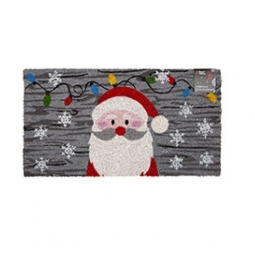 Santa Novelty Festive Christmas Door Step Mat Coir Rubber Backed 35cm X 65cm