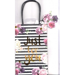 Black&White Floral Gift Bag