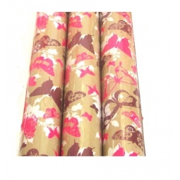 Pink&Brown Butterfly Gift Wrap