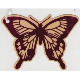 Pink&Brown Butterfly Gift Tags